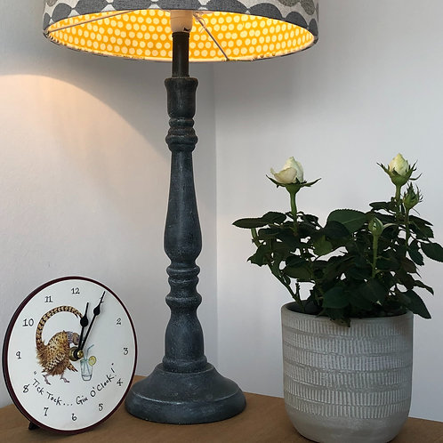 Grey washed effect Wooden Lamp Base
