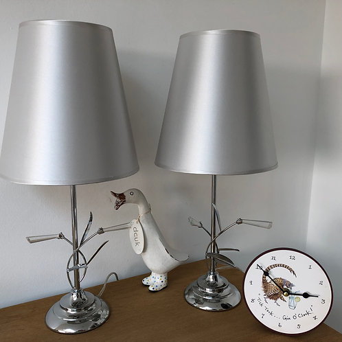 Chrome and Crystal  Lamp Bases