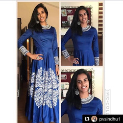 Repost #repost _pvsindhu1 dazzles in our