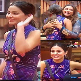 _realhinakhan dazzles in #IntriPrinti on