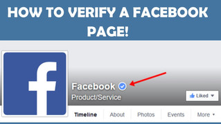 Is your Facebook Page verified? Make sure it is or you are missing out!