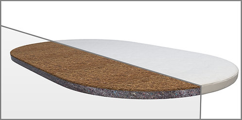 Ovalná matrace na postýlku Mimiko Kokos +Flex