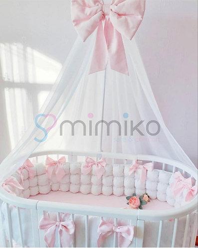 Bílo-růžový set ložního pradla