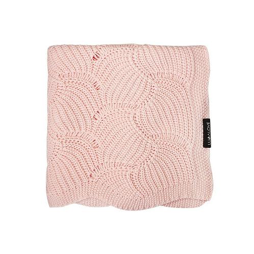 Bambusová dečka vzor mušličky - Růžová