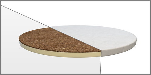 Kulatá matrace na postýlku Mimiko Kokos + Latex