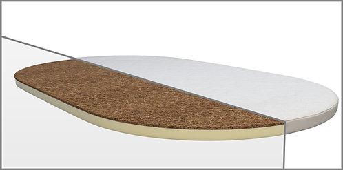 Ovalná matrace na postýlku Mimiko 2.0 Kokos + Latex