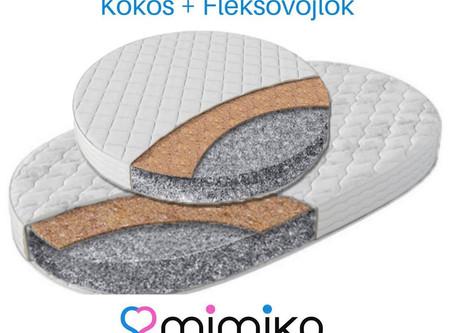 Matrace Kokos+Fleksovojlok do kulaté postýlky