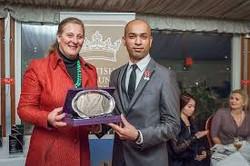 HRH presents an award