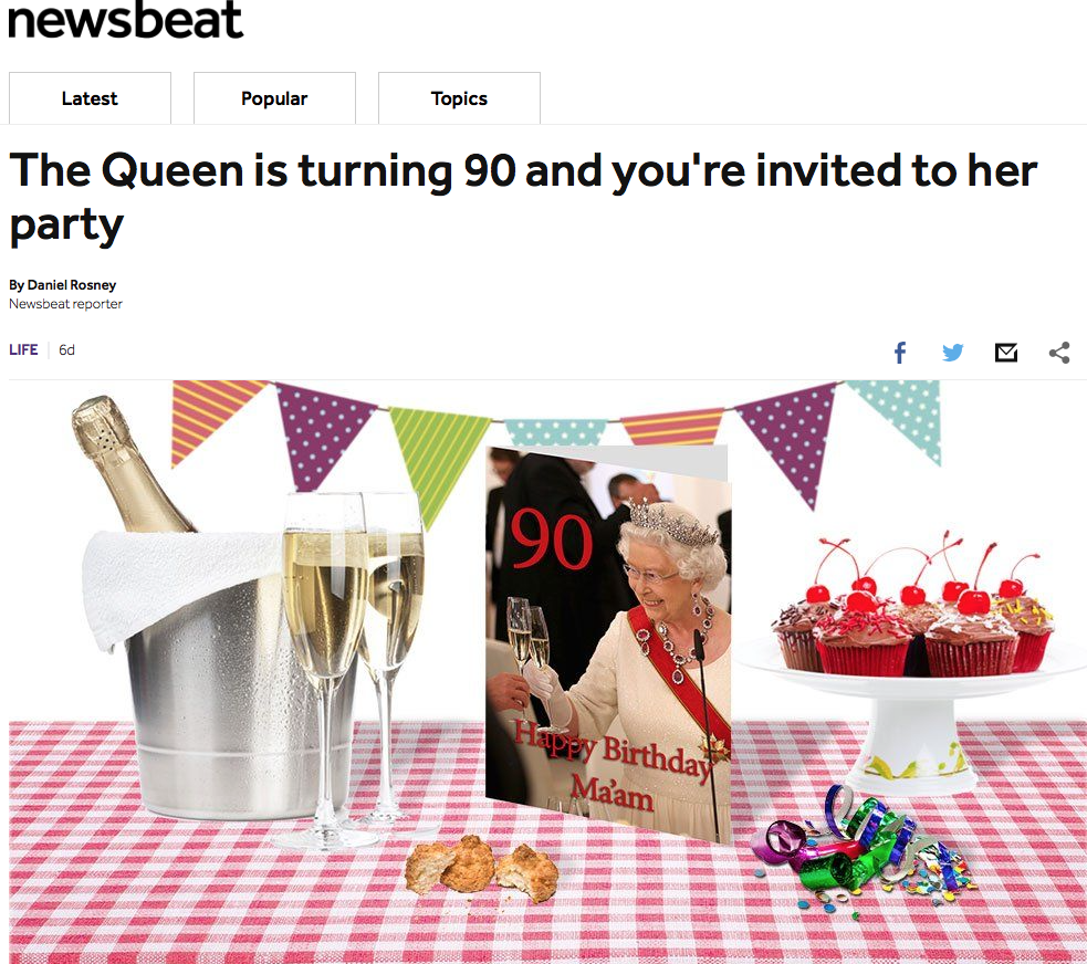 Organise a royal themed street party