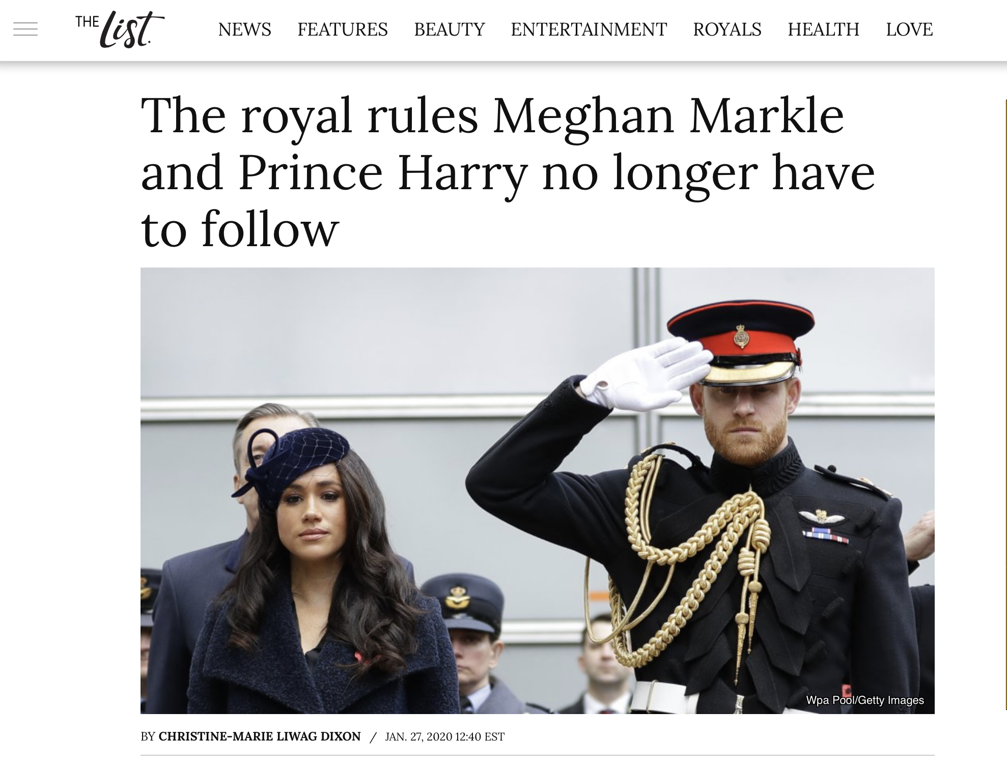 The List - Royal Etiquette
