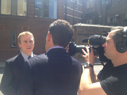 Grant Harrold is interviewed by RTL