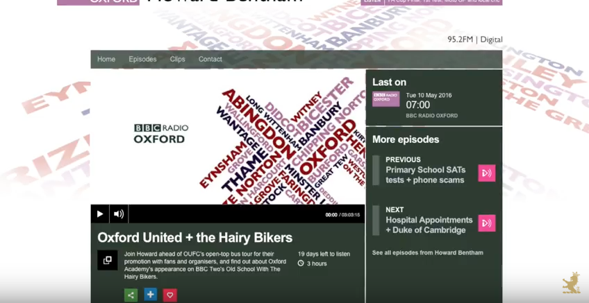 BBC Oxford chats to Grant Harrold