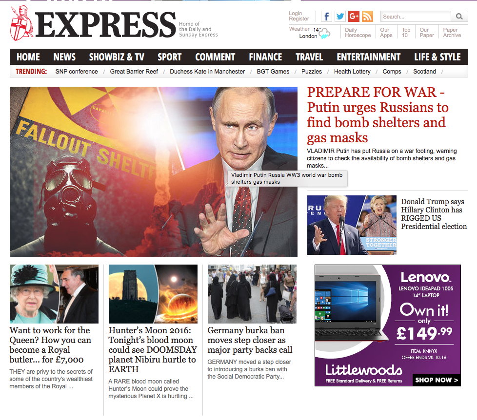 Daily Express on The Royal School.