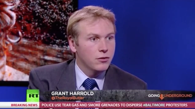 Grant Harrold on Russia Today