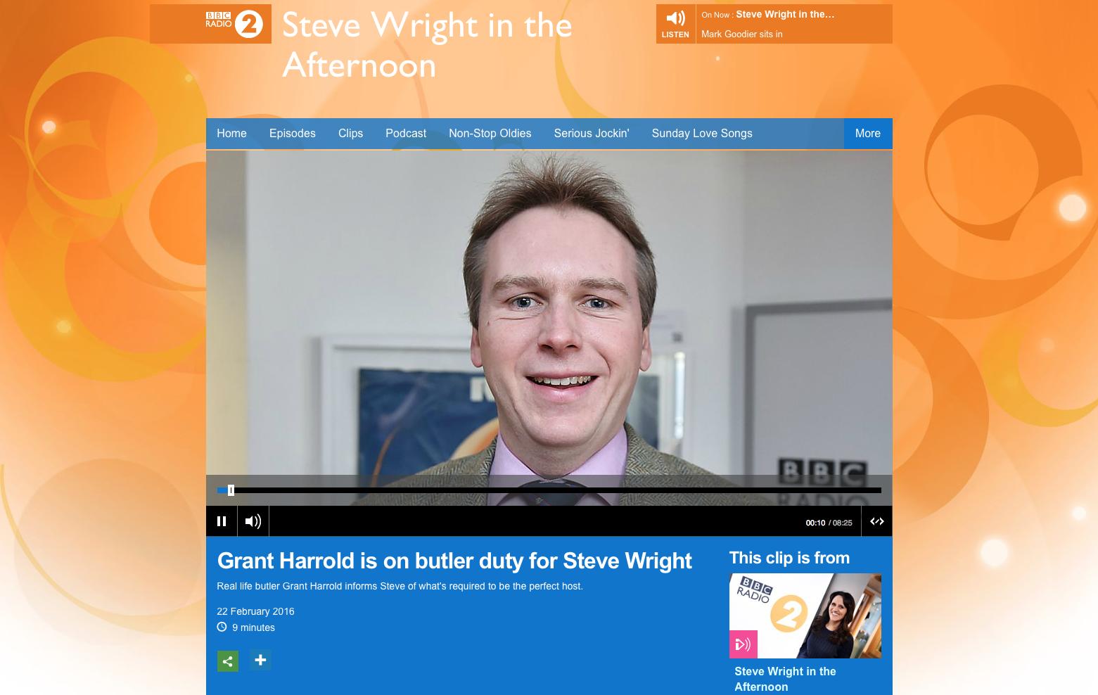 BBC Radio 2 with Grant Harrold