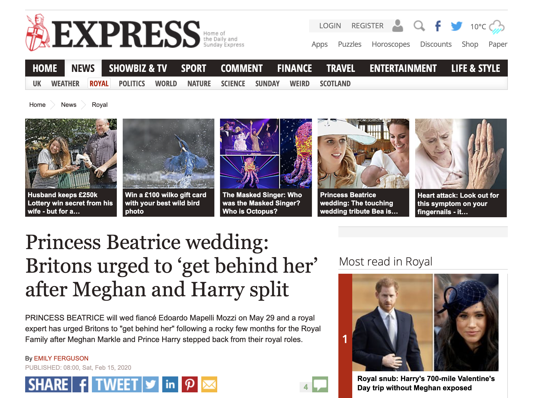 Daily Express - Royal Wedding