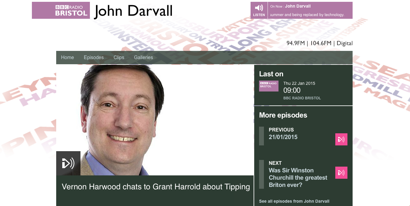 Grant Harrold chats to BBC Bristol