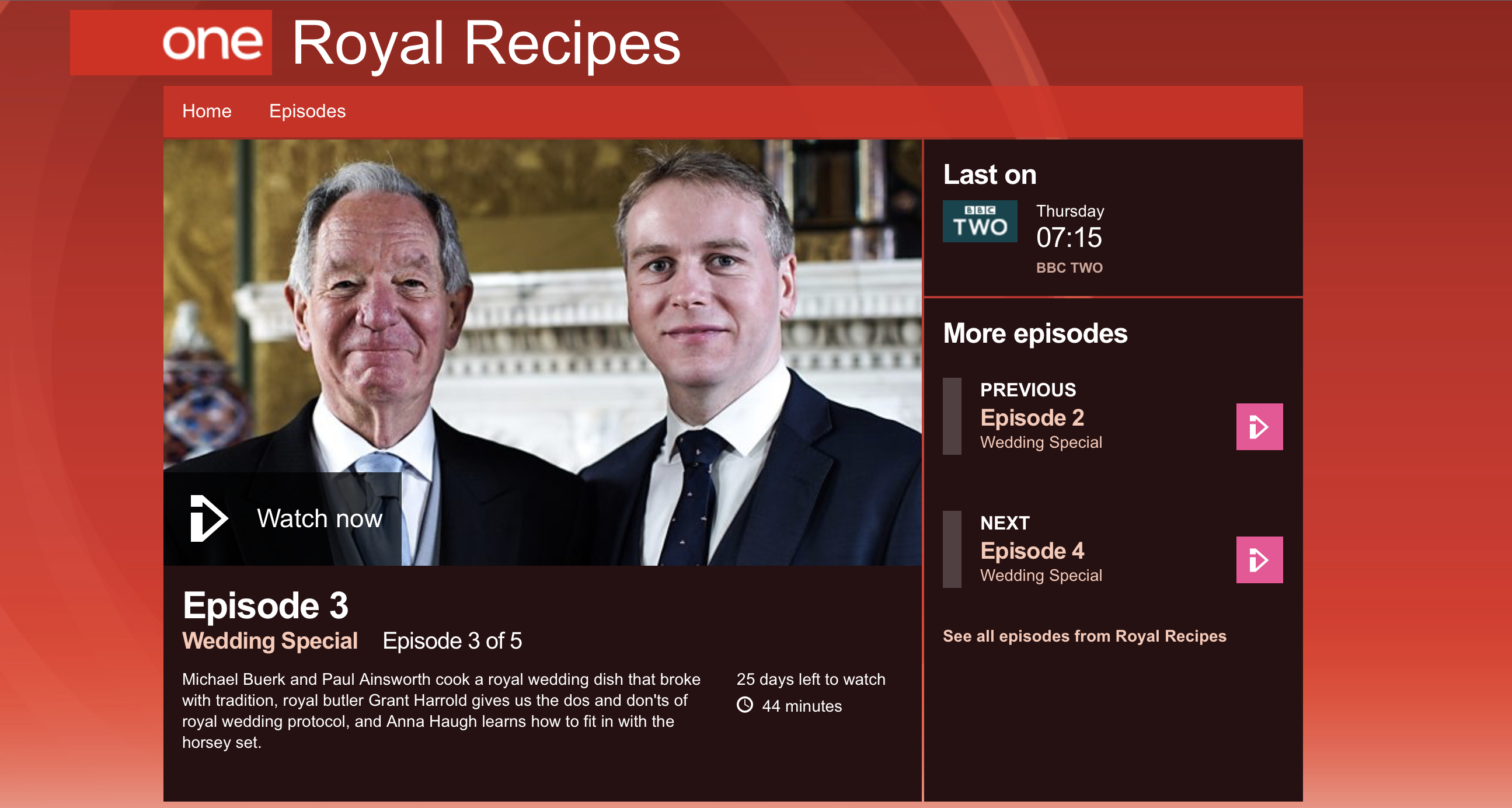 BBC Royal Recipes