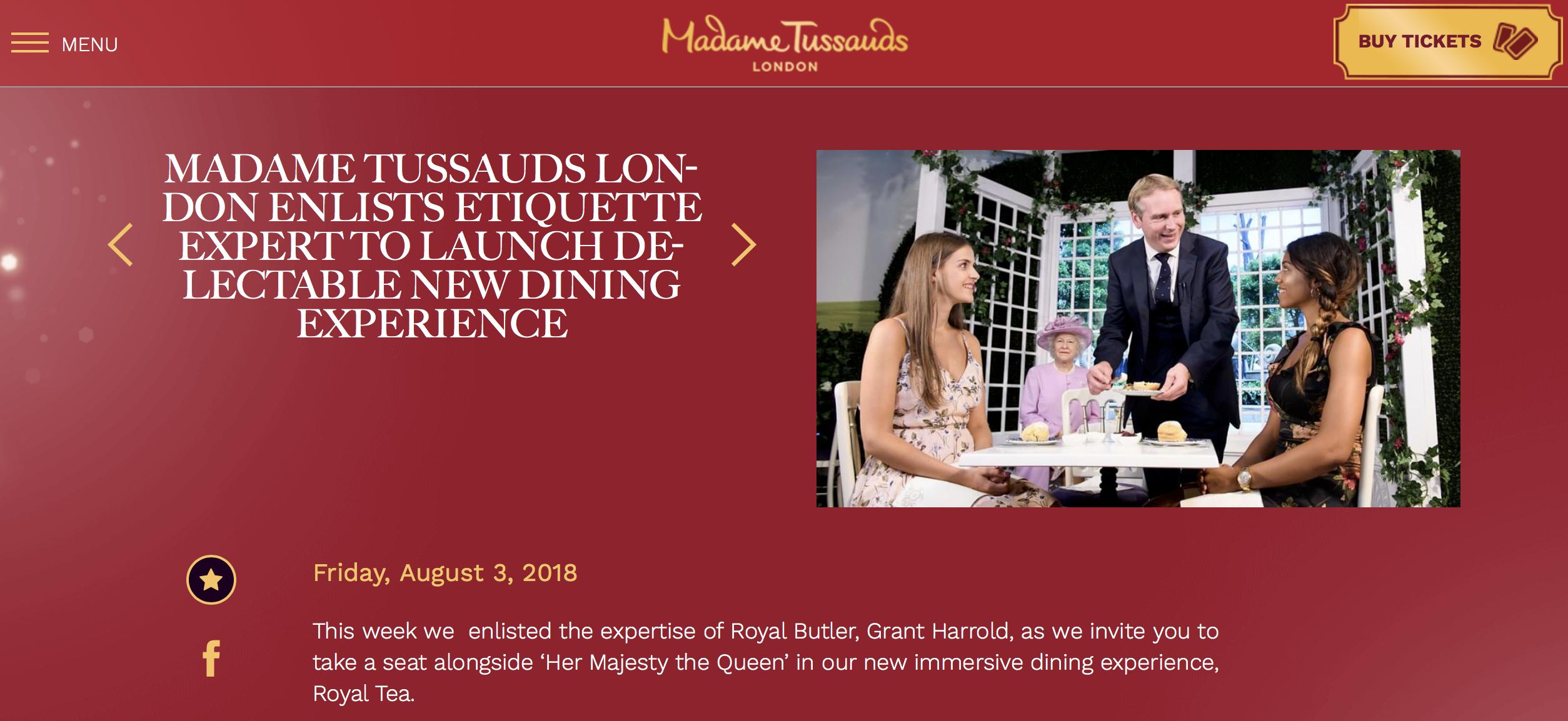 Madame Tussauds & The Royal Butler