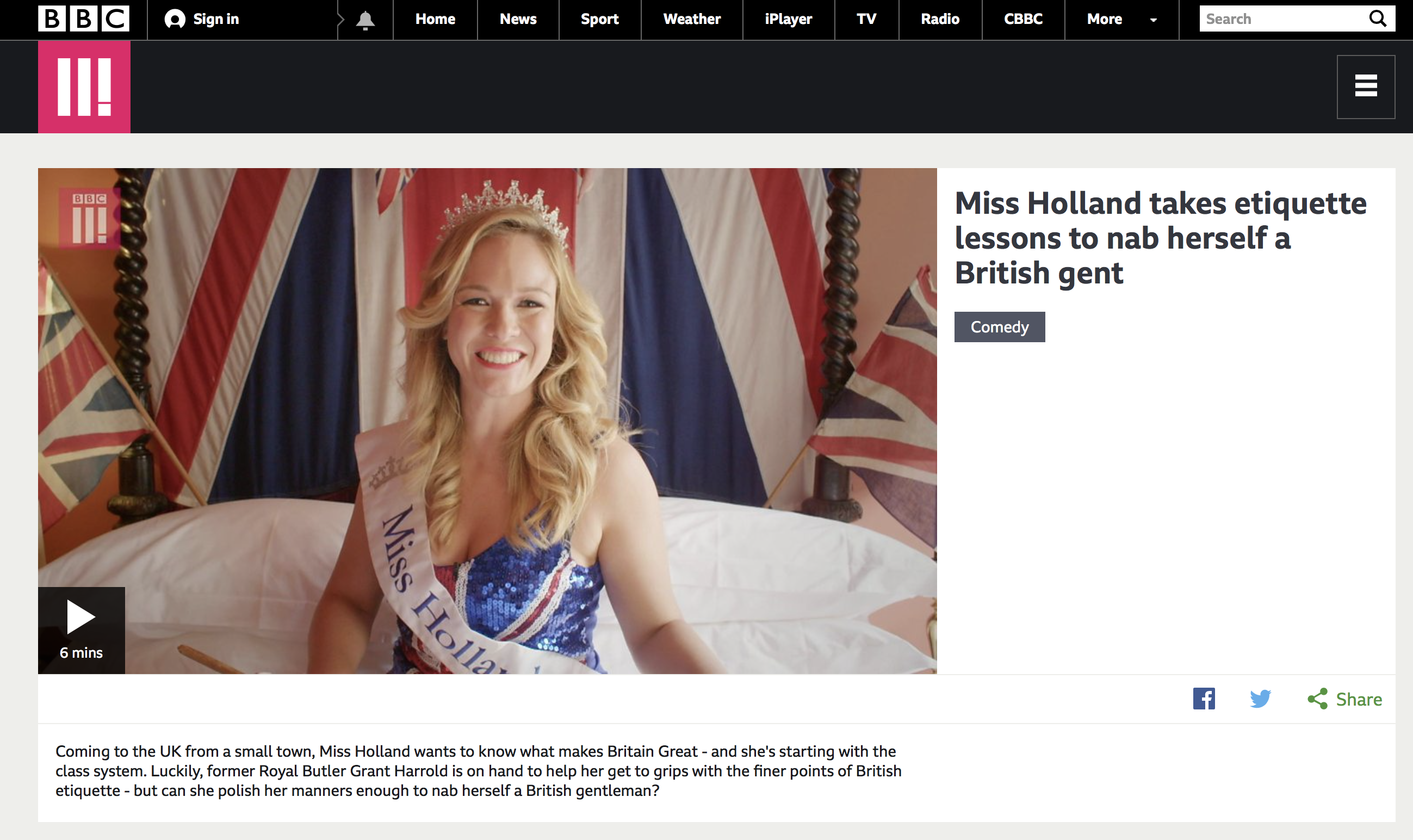 BBC Three, Miss Holland