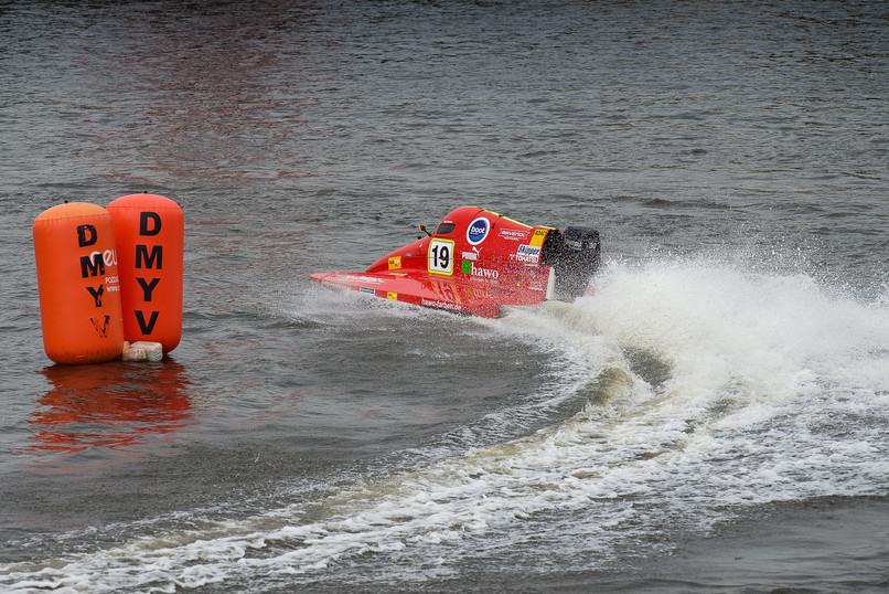 Motorboot Rennen.