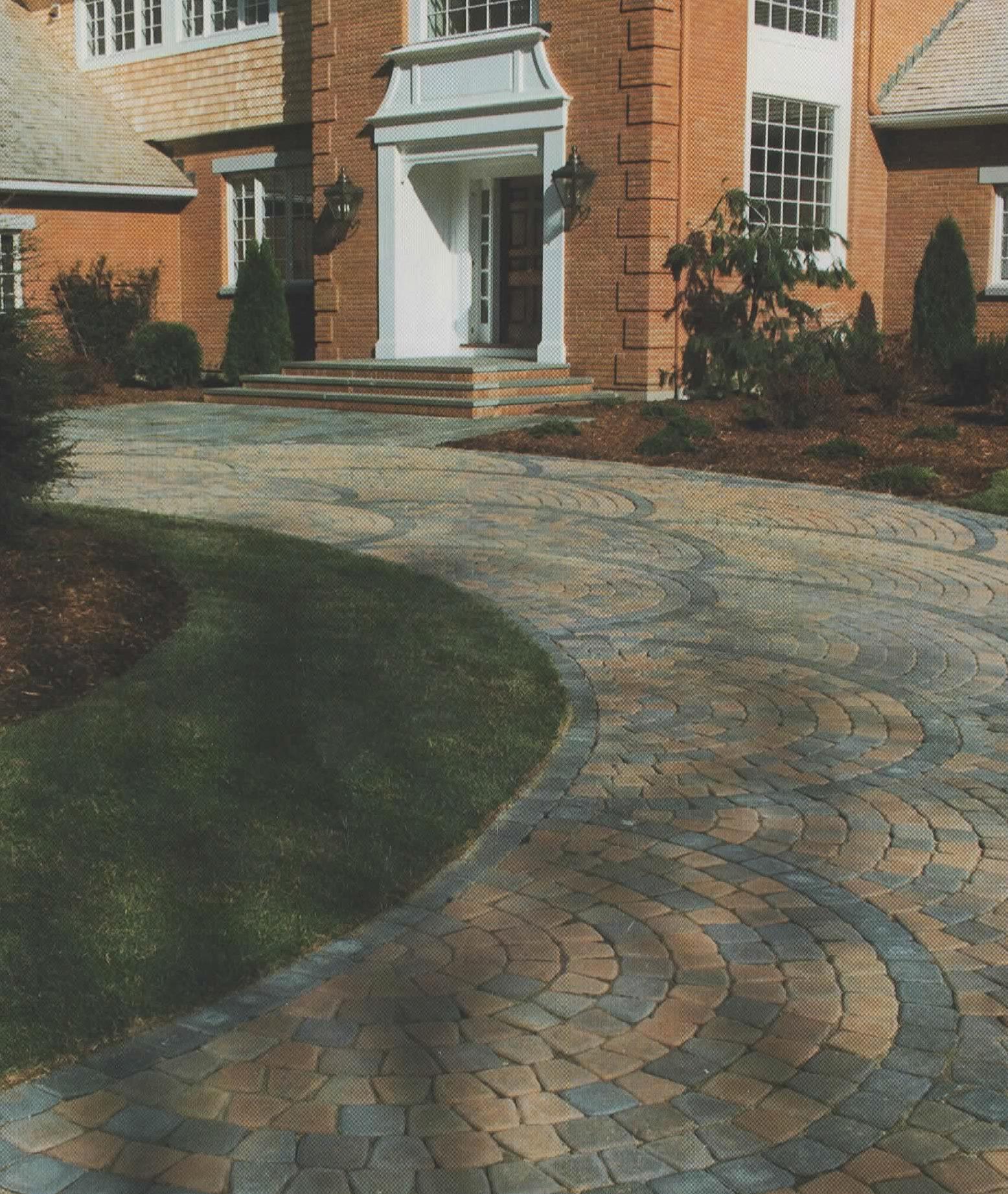 Custom stone walkway