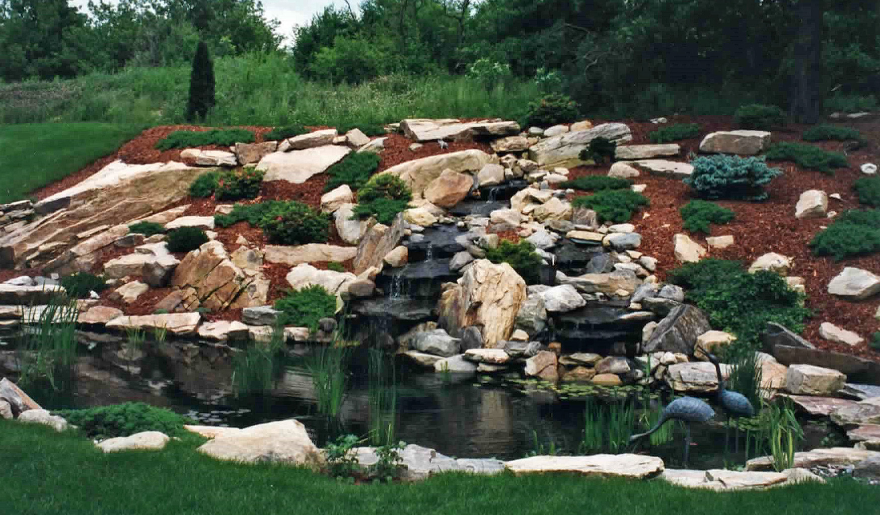 Stone water garden