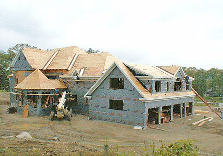 House construction in Massachusetts