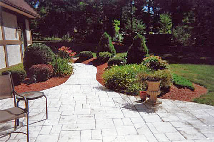 Landscaping and custom stone walk