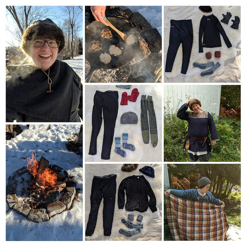 collage of warm clothes and winter fun in them