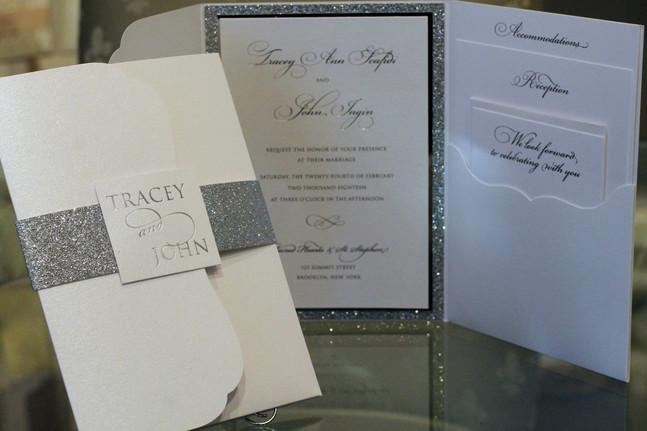 Pocket folio invitations