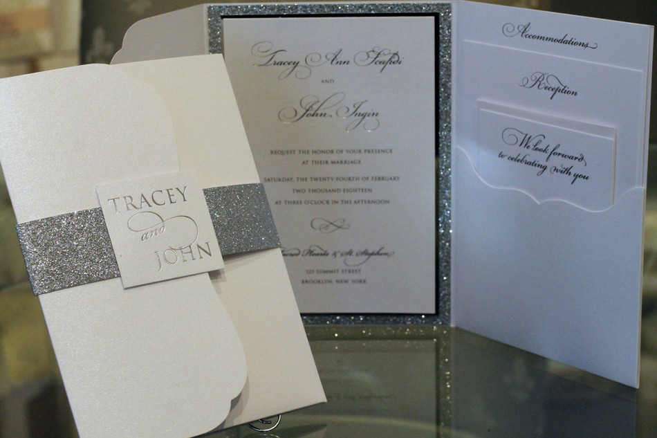 Pocket folio invitations