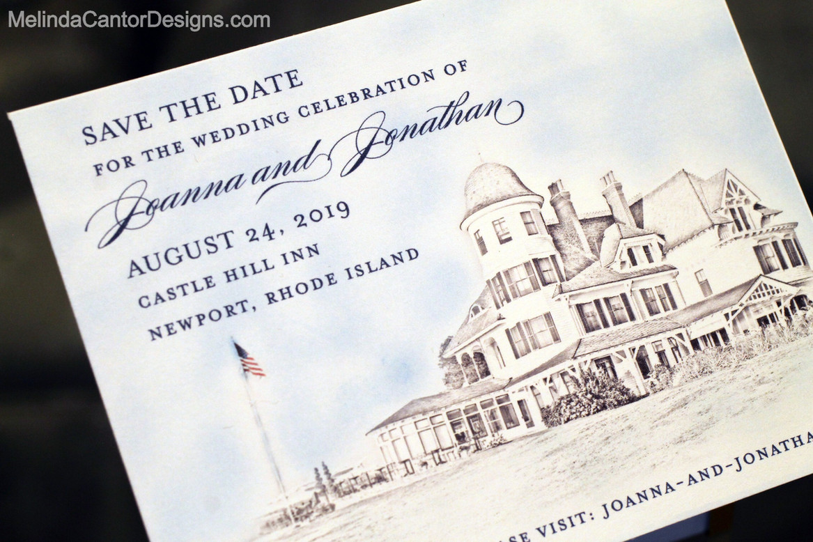 Custom illustration Save the date