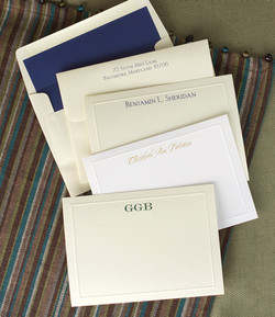 embossed classic notes