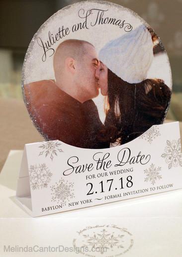 Custom Snowglobe Save the Date
