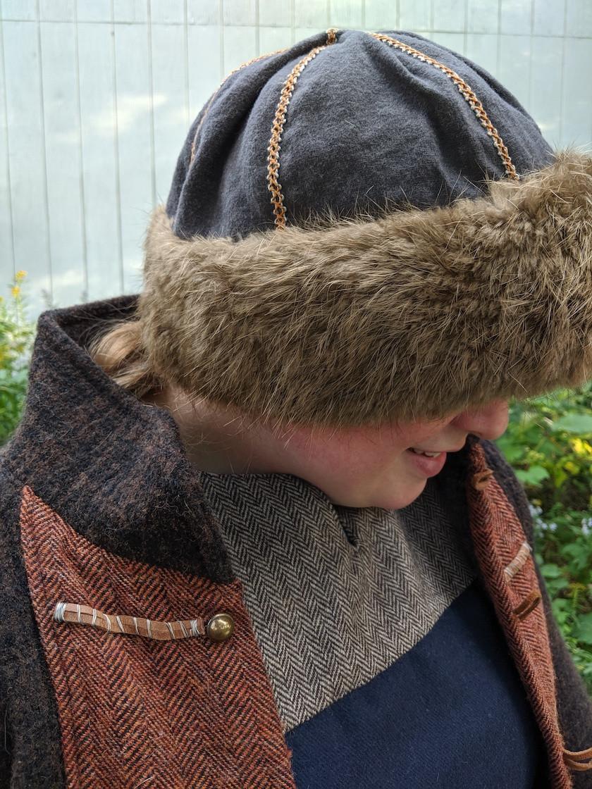 Wool,silk,fur hat