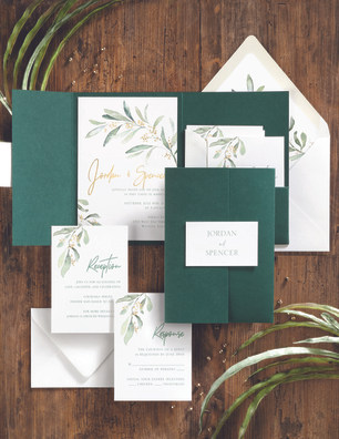 Pocket with greenery accents