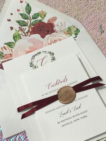 Wax embellished invitations