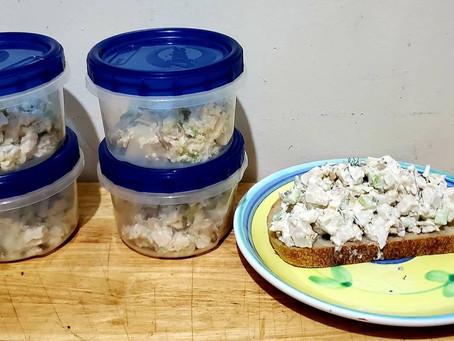 Open Faced Chicken Salad Sandwich