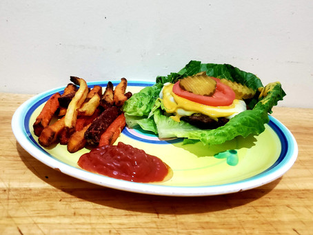 Cheeseburger With Root Vegetable Fries