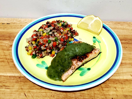 Pan Seared Salmon With Multigrain Blend