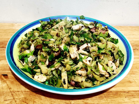 Warm Shaved Brussels Sprout Salad