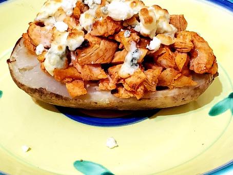 Buffalo Chicken Stuffed Potato
