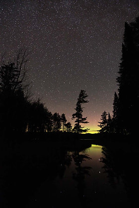 Northern Lights at Lower Browns Tract Pond