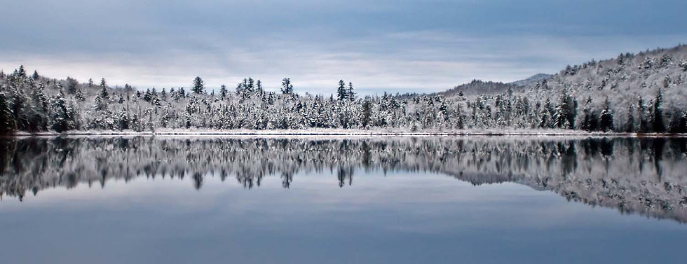 Browns Tract Pond First Snow Pano