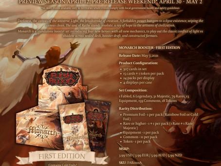 FAB ~ Monarch 1st Edition 上市發售