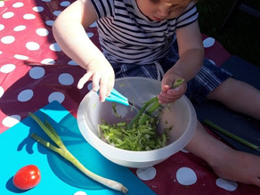 Snipping and Stir Fries:  Kids Kitchen Tips