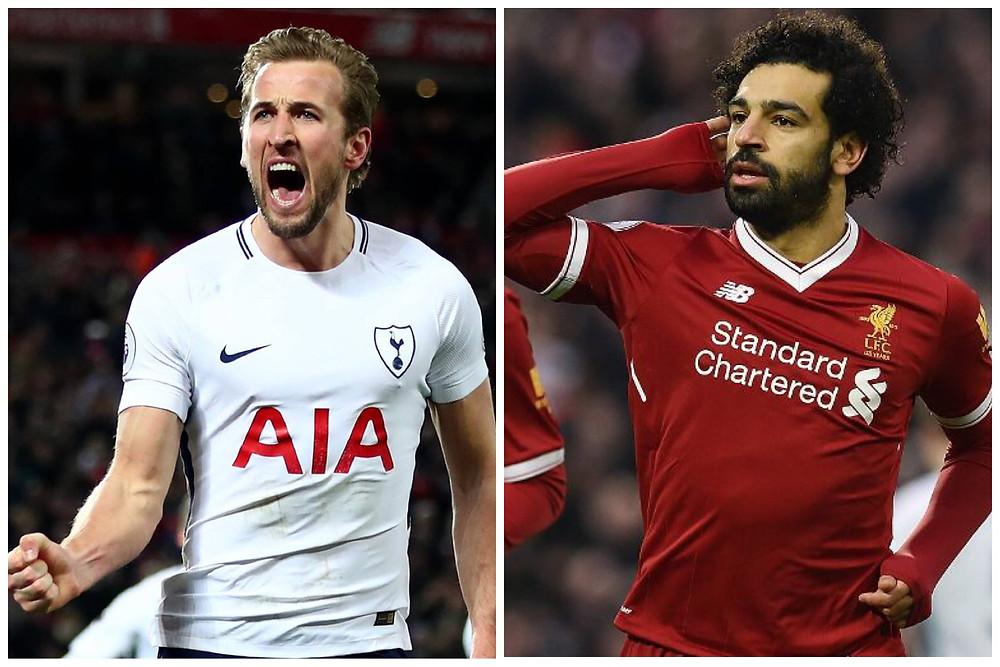 Harry Kane e Mohamed Salah foram o destaque do jogão entre Tottenham e Liverpool e também da Premier League