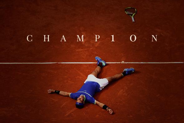 Rafael Nadal comemora seu 10o título em Roland Garros