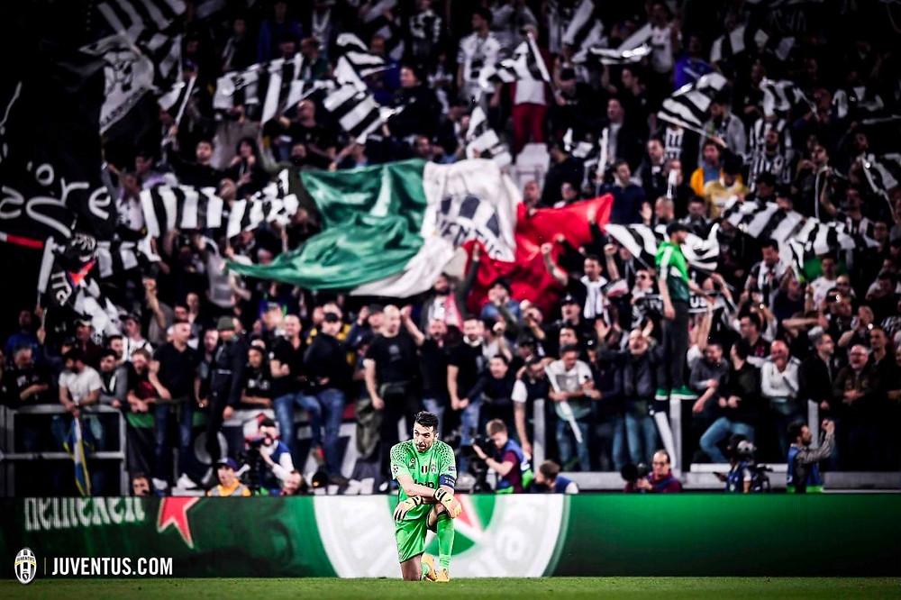 Buffon em jogo pela Juventus